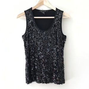 NWT | 89th & Madison | black sequin tank top